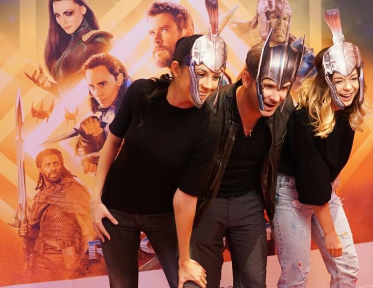 Impreuna cu Doamna Stefan si Domnul Miti, la avanpremiera Thor: Ragnarok
