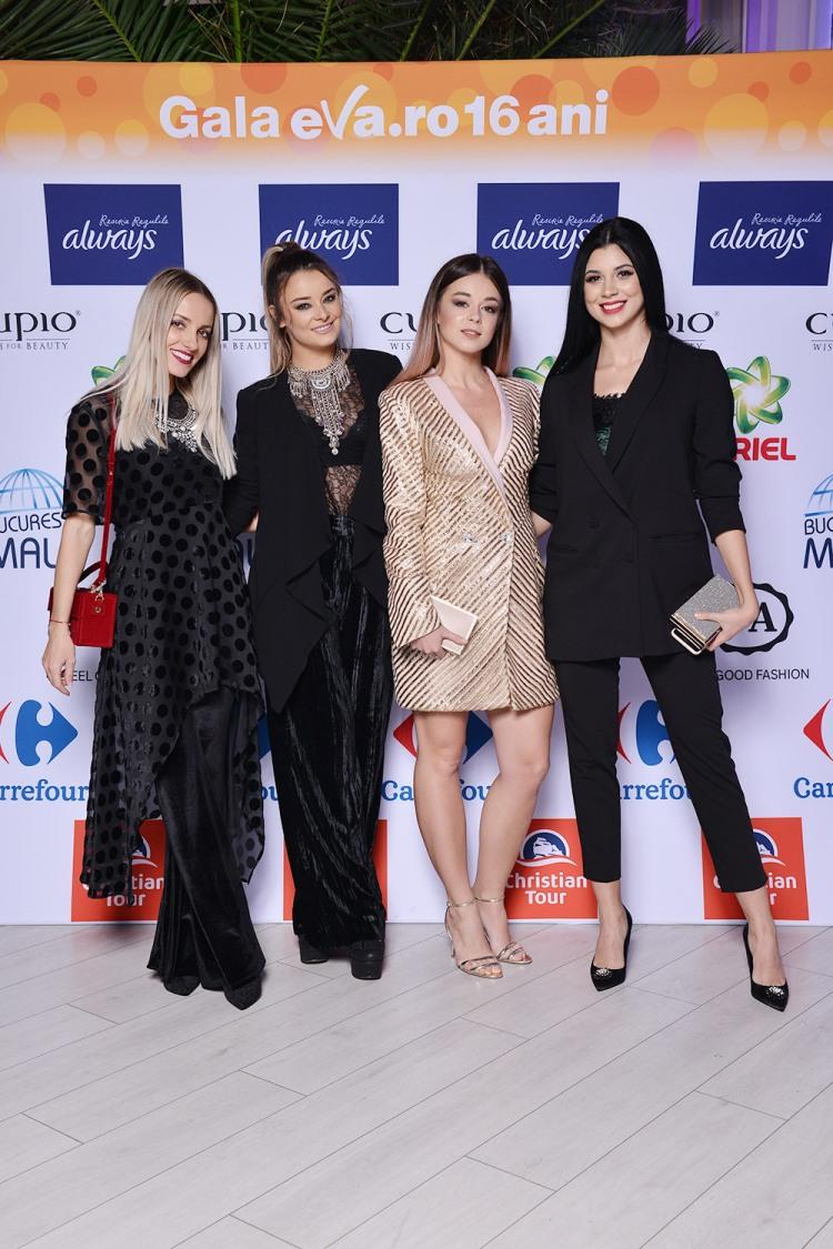 Noi fetele (Ruxi, Alexandra, eu si Cristina) la Gala Eva.ro